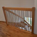 Kombinované schody drevo-kov