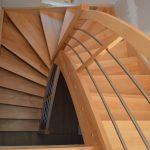 Bukové schody bez zrkadla
